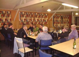 30-6-12 - Guests and members socialising at Snowline on the first Saturday night of the season