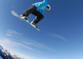 Snowboard air time