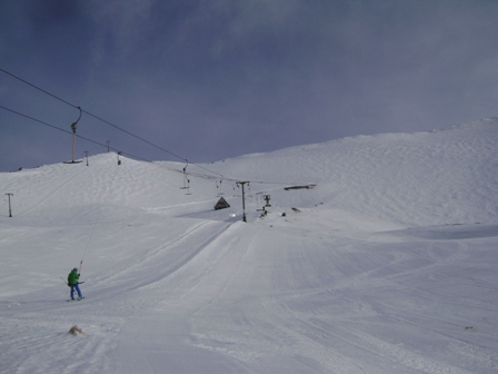 19-7-12 - First skier on the lift today and some excellent groomed runs.