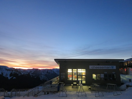 An awesome dawn shot of the Daylodge by Ruth.