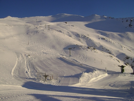 A shot of the field prior to opening the lifts on opening day.