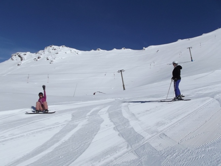 Kat & Immogen try out the groomed runs