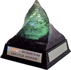 Ski Area Service Awards Trophy