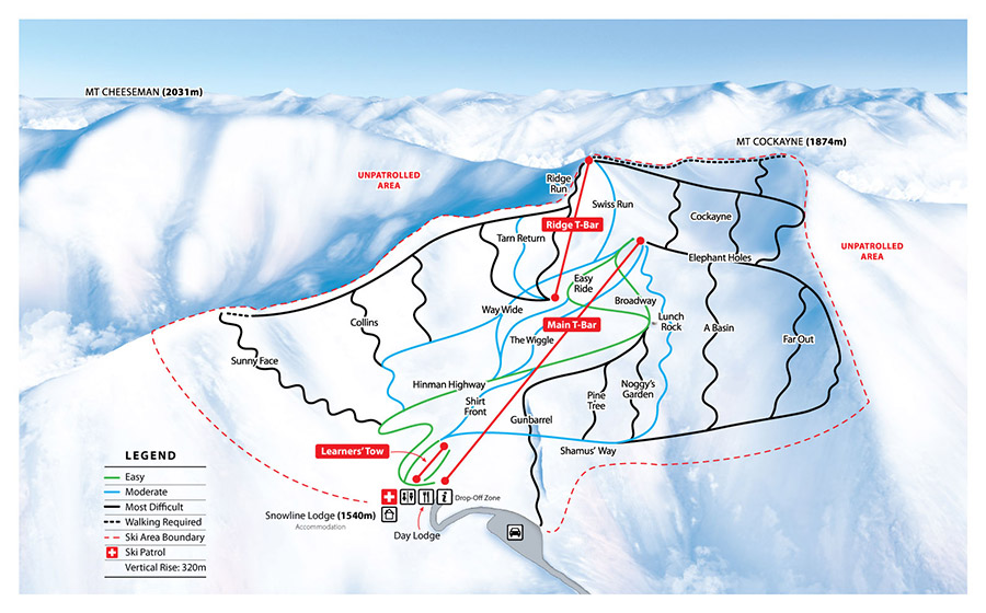 Mt Cheeseman Trail Map